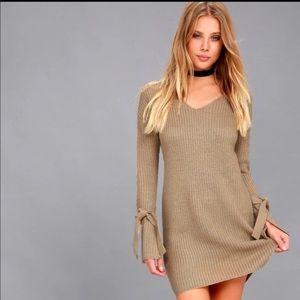 RD Style Long Sleeve Knit Sweater Dress